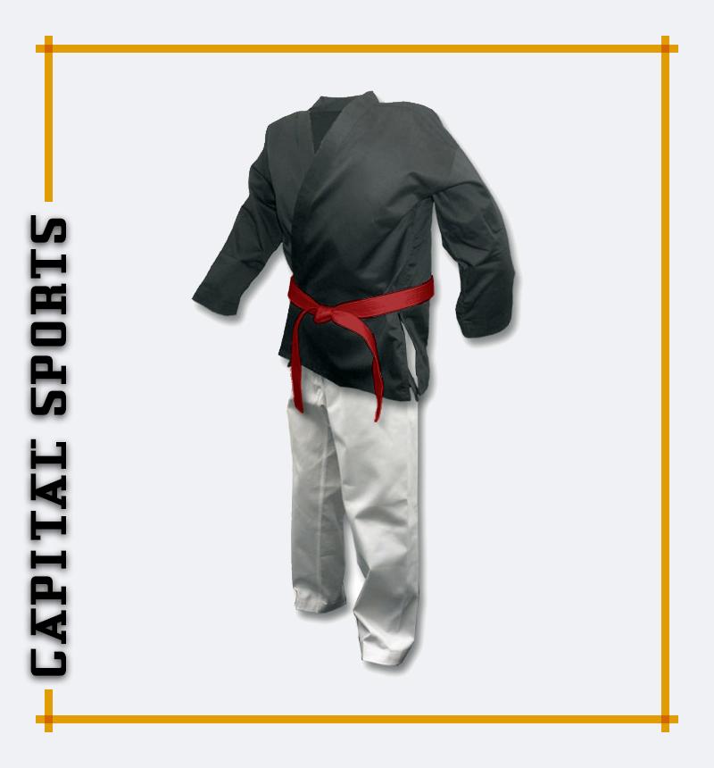 Black & white karate uniform