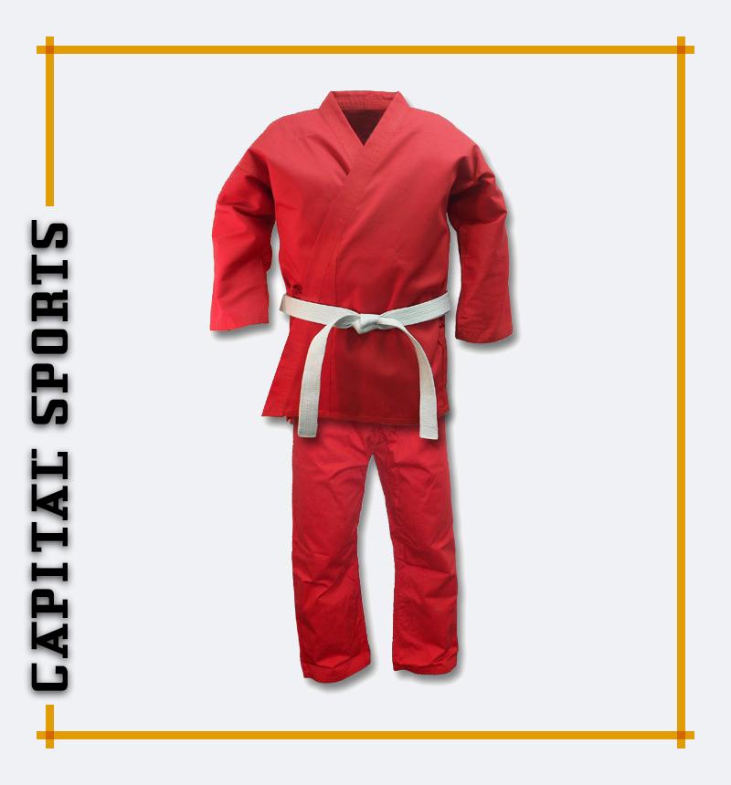 Red karate uniform
